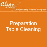 CLEAN STEPS Food Guard – Preparation Table Cleaning